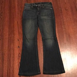 EXPRESS flare jeans (altered)